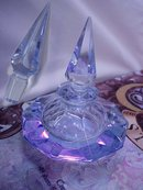 Large Blue Perfume Very Genie in a bottle and magical