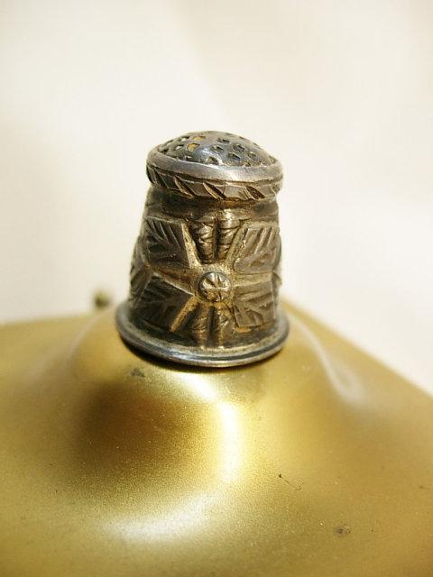 Vintage Taxco Strange symbol Thimble hand wrought 1930's
