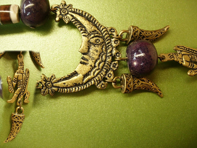 Moon Necklace BIzarre Egyptian Talisman