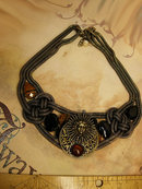 Medusa The guardian Collar necklace with huge stones and snake chain for the goddess in all of us