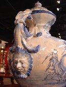 Antique Blue and White Savona Urn-19th Century