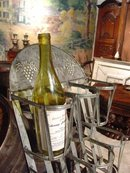 Wall Mounted 6 Bottle Tin Wine Rack from France