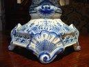 "A Large French ""Camaieu Blue"" Faience Ewer-Mid 1900s"