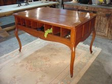 Louis XV Style 16-Slot Wine Tasting Table from France
