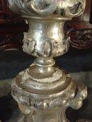 A Pair of Rare 18th Century Silverleaf Candlesticks