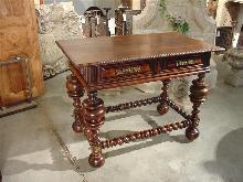 Antique Portuguese Table with Pierced Bronze Ornamentation, Circa 1850