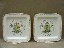 Pair of Large Italian Plates, Circa 1875