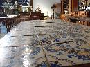 Antique Table with Portuguese Tiles and Spanish Renaissance Base