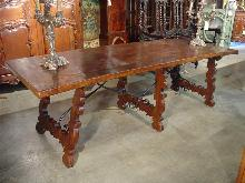 Antique Walnut Wood Catalan Dining Table from France