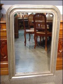 Antique Silverleaf Louis Phlippe Mirror, C.1900