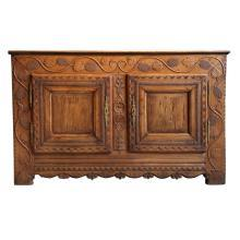 Beautifully Carved Antique Chestnut Buffet, Signed