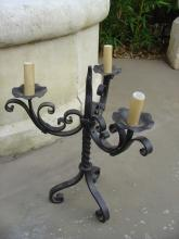 Forged Iron Antique Candleabra from France