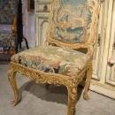 Circa 1800 French Giltwood And Tapestry Chair