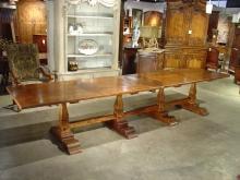 Massive Italian Elmwood Dining Table-Mid 1900's