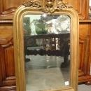 Antique Giltwood Louis Philippe Mirror with Cartouche