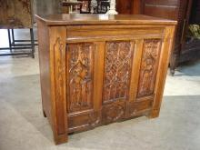 Small French Oak Gothic Style Trunk