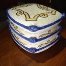 Decorative Stack of Majolica Pillows from Italy