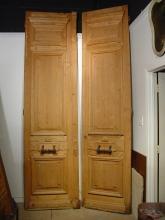 Pair of Grand Antique Haussmanien Doors, Paris Circa 1870