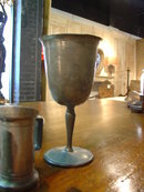 Antique Pewter - 1 Goblet and 2 Mini Tankards