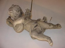 Cast Putti Musician-Mandolin-France