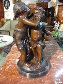 Reproduction Cast Bronze of a Boy and Girl