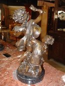 Reproduction Cast Bronze of Eros and Young Girl