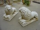 Pair of Lion Statues from France,