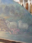 French Antique Overdoor Painting-Late 1800s