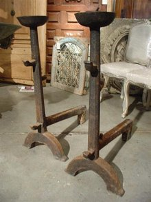 Massive 18th Century French Andirons