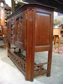 Antique French Buffet with Pannetiere Base-1800's