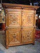 Renaissance Revival Carved Oak Cupboard