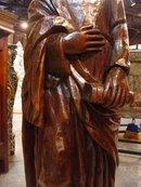 Antique Walnut Wood Statue of St. John