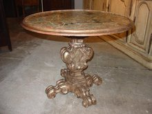 Italian Argente Wood and Faux-Marbre Occasional Table