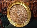 19th Century Repousse Copper Plaque in Giltwood Frame-Florence Italy