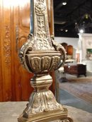 Antique Silvered Bronze Candlestick