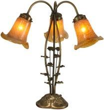 New Accent Lamp Gold Antique Gold Dale Tiffany 3-Light Reproduction Metal DY-471