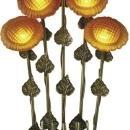 New Table Lamp Antique Brass Dale Tiffany 5-Light Reproduction Hand-Blown DY-598