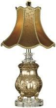 New Table Lamp Imperial Crown Dale Tiffany 1-Light Victorian Solid Crysta DY-418