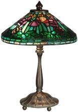 New Table Lamp Antique Verde Dale Tiffany 2-Light Reproduction Hand-Rolle DY-372