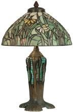 New Table Lamp Dark Antique Bronze Verde Grn Dale Tiffany 2-Light Mosaic  DY-203