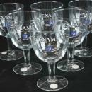 GREAT Vintage Set of 6 Abdij Abbaye Abbey Beer Glasses