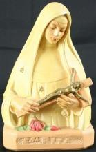 Vintage French Chalkware Saint Rita Impossible Causes