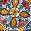 Vintage Spanish Hand-Painted Majolica Plate Mudejar