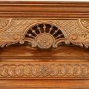Antique Chestnut French Brittany Style Beer Wine Buffet Hutch Liquor Cabinet