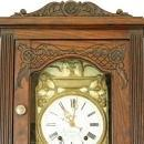 French Brittany Morbier Grandfather Longcase Clock Quimper