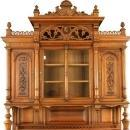 Antique Walnut French Renaissance-Style Buffet Cabinet Server Sideboard