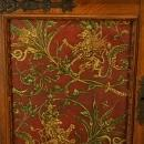 Massive Vintage French Oak Sideboard, Carved/Painted Gryphons/Lions Rampant