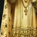 Large Antique Chalkware Sculpture of Infant Jesus, Child of Prague, Crown & Robe