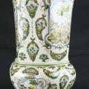 Large Vintage Majolica Vase, French Rococo, Moustiers, Neoclassical Mythology