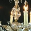 Vintage Marie Theresa Style French Glass Chandelier Rococo 8-Arm 1970s